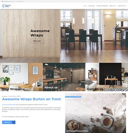 Web Design Awesome Wraps Burton on Trent