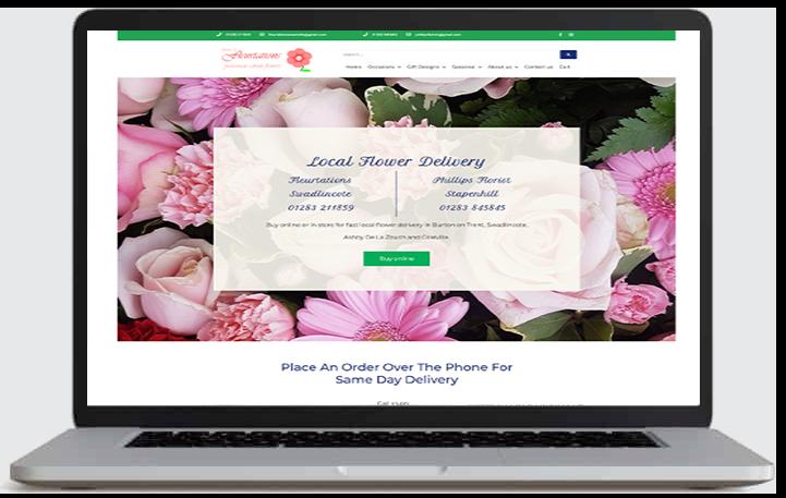 Fleurtations website by cads web design Swadlincote, Burton on Trent and Ashby de la Zouch