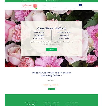 Web Design Fleurtations Swadlincote