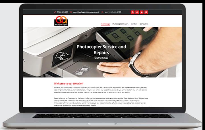 aaDigital website by cads web design Swadlincote, Burton on Trent and Ashby de la Zouch
