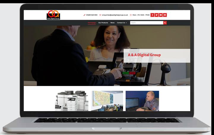 aadigital website by CADS Web Design in Swadlincote